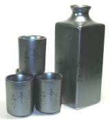 Metalic Poem Sake Set for Four
