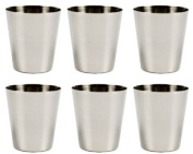 Stainless Steel Shot Glass, 60ml - Set of 6