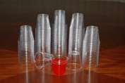 1 ounce Clear Plastic Shot Glasses - Box of 500