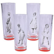 Marilyn Monroe White Dress Collectible Shooters Shot Glasses