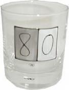 80th birthday Gift whiskey glass