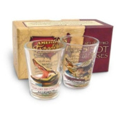 2 American Expedition Shot Glasses Alligator