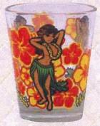 Hawaiian Shot Glass Hula Girl