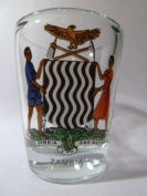 Zambia Coat Of Arms Shot Glass
