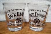 Jack Daniel's 2010 Iditarod Official Sponsor Promotional Shot Glasses Pair