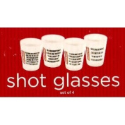 Set of Four Shot Glasses with Humorous Text