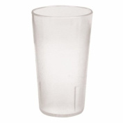 20 oz. (Ounce) Restaurant Tumbler Beverage Cup, Stackable Cups, Break-Resistant Commmerical Plastic, Set of 6 - Clear