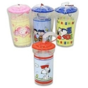 Snoopy & Peanuts 470ml Tumbler Cup with Sipping Straw