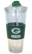 Green Bay Packers Official NFL No Spill Straw Tumbler by Boelter Brands 201341