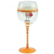 Santa Barbara Design Studio, Curly Girl Design Striped Stem Wine Glass and Matching Tin, Sister is Friend