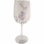 Sweet pea wine glass 60th birthday