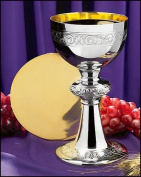 Ornamented Chalice And Paten
