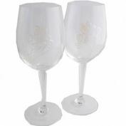 30th Wedding Anniversary Wine Glasses Pair