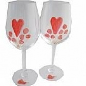 40th Wedding Anniversary Wine Glasses Pair
