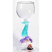 Hand Blown Mermaid Wine Glass by Yurana Designs W321