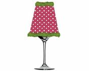Get Lit Wine Glass Votive, Pink Dot