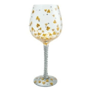 Lolita Wine Glass - Heart Of Gold