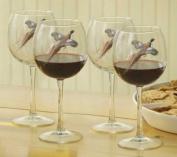 Pheasant 470ml Red Wine Glasses by David Maass