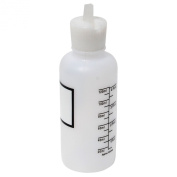 Vestil BTL-RF-4-LBL Low Density Polyethylene (LDPE) Round Graduated Dispensing Bottle with Label and Natural Flip-Top Cap, 1-2.1cm Diameter x 4-2.1cm Height, 120ml Capacity, Translucent