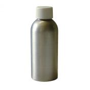 Vestil BTL-MA-4 Aluminium Round Metal Bottle with White Threaded Cap, 1-1.9cm Diameter x 4.8732.5cm Height, 120ml Capacity