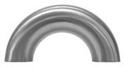 Dixon B2WUL-R200P Stainless Steel 316L Sanitary Fitting, 180 Degree Polished Weld Return Bend, 5.1cm Tube OD