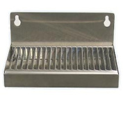 Beer Drip Tray 15.2cm Stainless Steel Wall Mount w/ No Drain