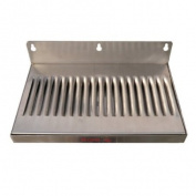 15.2cm x 30.5cm Stainless Steel Wall Mount Draught Beer Drip Tray