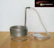 Super Efficient 1cm x 25' Stainless Steel Wort Chiller