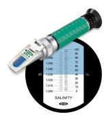 Vee Gee Scientific STX-3 Handheld Refractometer, with Salinity Scale, 0-100, +/-1.0 Accuracy, 1.0 Resolution