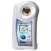 Atago 4434 PAL-34S Digital Hand-Held Pocket Alcohol Liquid Refractometer, Special Scale for Ethyl Alcohol