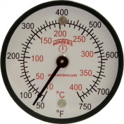 Winters TMT Series Steel Dual scale Surface Magnet Thermometer, 5.1cm Dial Display, +/-2% Accuracy, 50-750 F/C Range