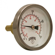Winters TSW Series Aluminium Dual Scale Hot Water Thermometer, Dial Type, 2-1.3cm Dial, 1.9cm Sweatwell, 30-250 F/C Range