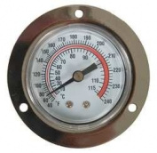 Industrial Grade 1EPF2 Panel Mount Thermometer, 40 to 240 F