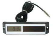 Industrial Grade 13E395 Panel Thermometer, -58 to 158 F, Black
