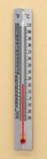 Thermometer Metal Back Double Scale -20 to 230 deg F -30 to 110 deg C