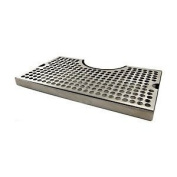30.5cm Surface Mount Kegerator Beer Drip Tray Stainless Steel Tower Cut Out No Drain