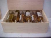 Twelve Bottle Wine Box with Slide Top