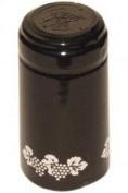Black Silver Grapes PVC Shrink Capsules 30 Per Bag