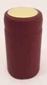 Metallic Ruby Red PVC Shrink Capsules-30 Per Bag