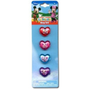 Mickey Clubhouse Minnie Heart Shaped Plastic Ring Set