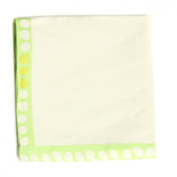 ASD Living for the Home Organic Dots Natural Napkin, Green