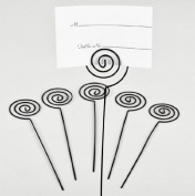 Darice VL12165BLK Wedding Circle Swirl Place Card Holder Pick, 15.2cm , Black, 6-Pack
