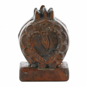 HomArt Cast Iron Sacred Heart Placecard Holder, Rust