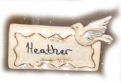 Lovey Dovey Place Card Holder - Clayworks Blue Sky 2006