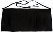 Phoenix Waist Apron with 2 Pockets, 58.4cm by 27.9cm , Black