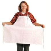San Jamar 600BAW Poly Cotton Extra Wide Bib Apron with Pencil Pocket, 76.2cm Length x 96.5cm Width, White