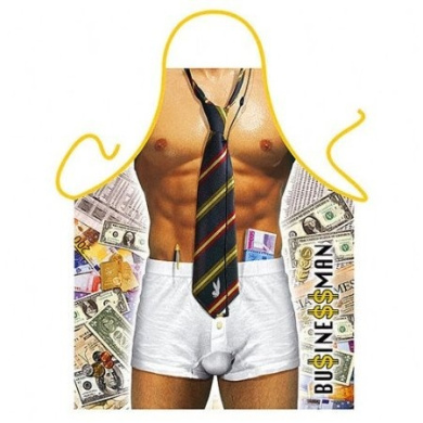 """Business Man"" - Sexy Kitchen Apron - 100% Polyester"