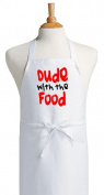 Dude With The Food Funny Aprons For Men