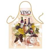 """Vino"" (Italian Wine) - Kitchen Apron - 100% Polyester"