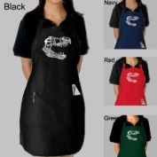 Full Length Red T-Rex Dual Pocket Apron - T-Rex Dual T-Rex skull created out of popular Dinosaur names